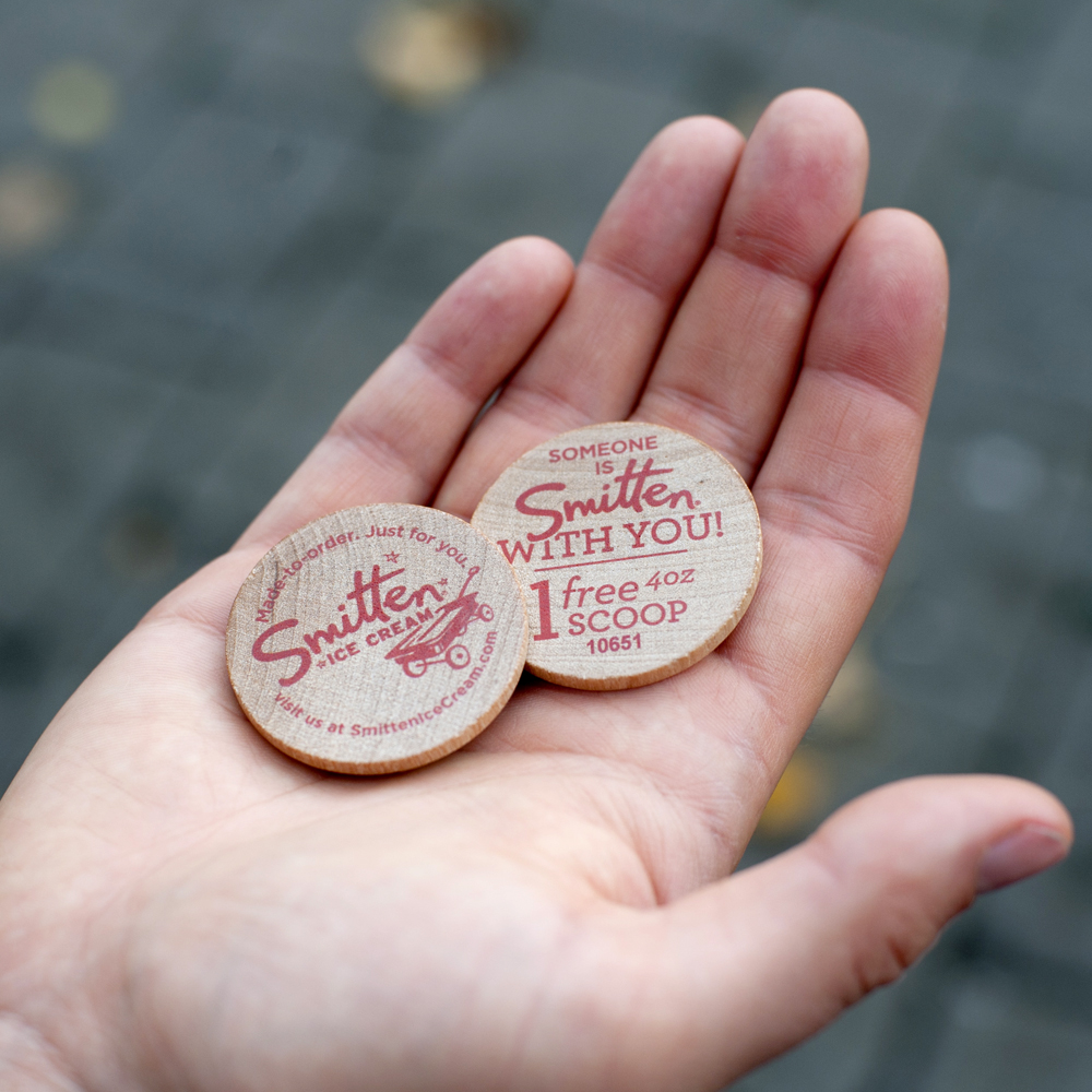 Wooden Gift Coin | Smitten Ice Cream